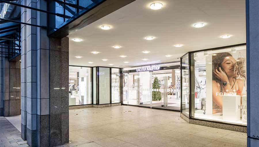Eingangsportal - Kaufhof Düsseldorf Königsallee • Trimborn Metallbau