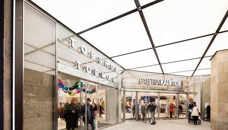 Eingangsportal - Kaufhof Köln Hohe Straße • Trimborn Metallbau