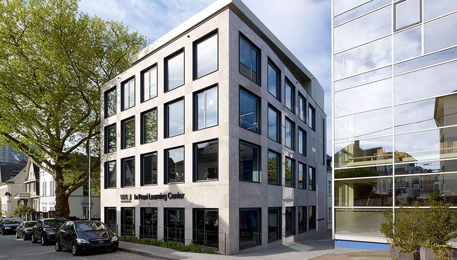 Metallfassade - WHU Vallendar – Pfosten-Riegelfassade mit Aluminiumzargen • Trimborn Metallbau