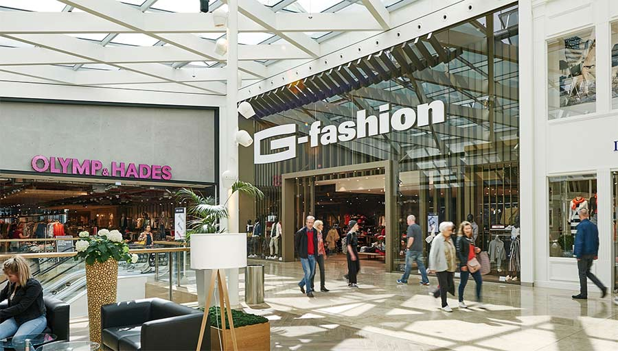 Shop Fassade - G-Fashion Riem Arcaden • Trimborn Metallbau